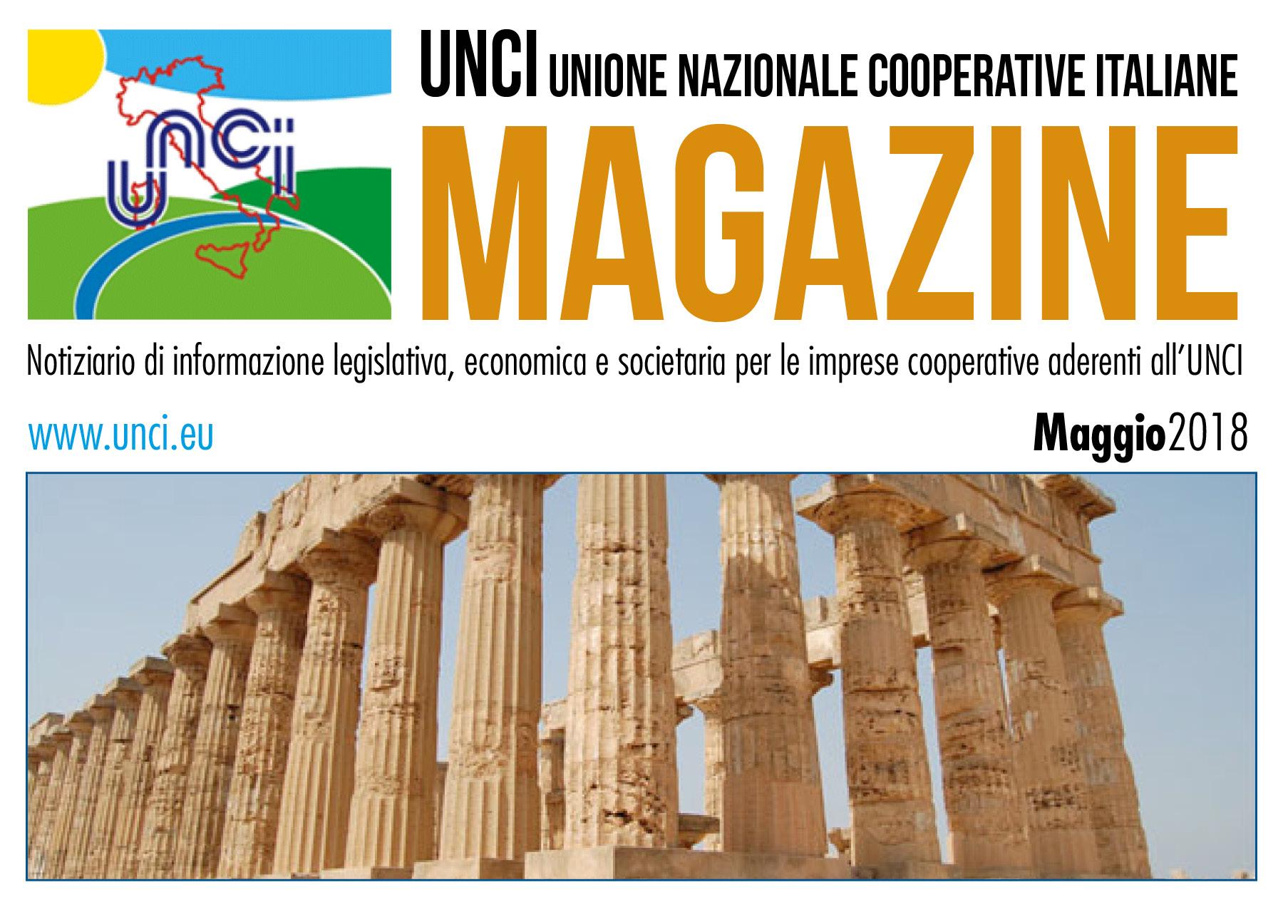 Cover Magazine UNCI maggio 2018