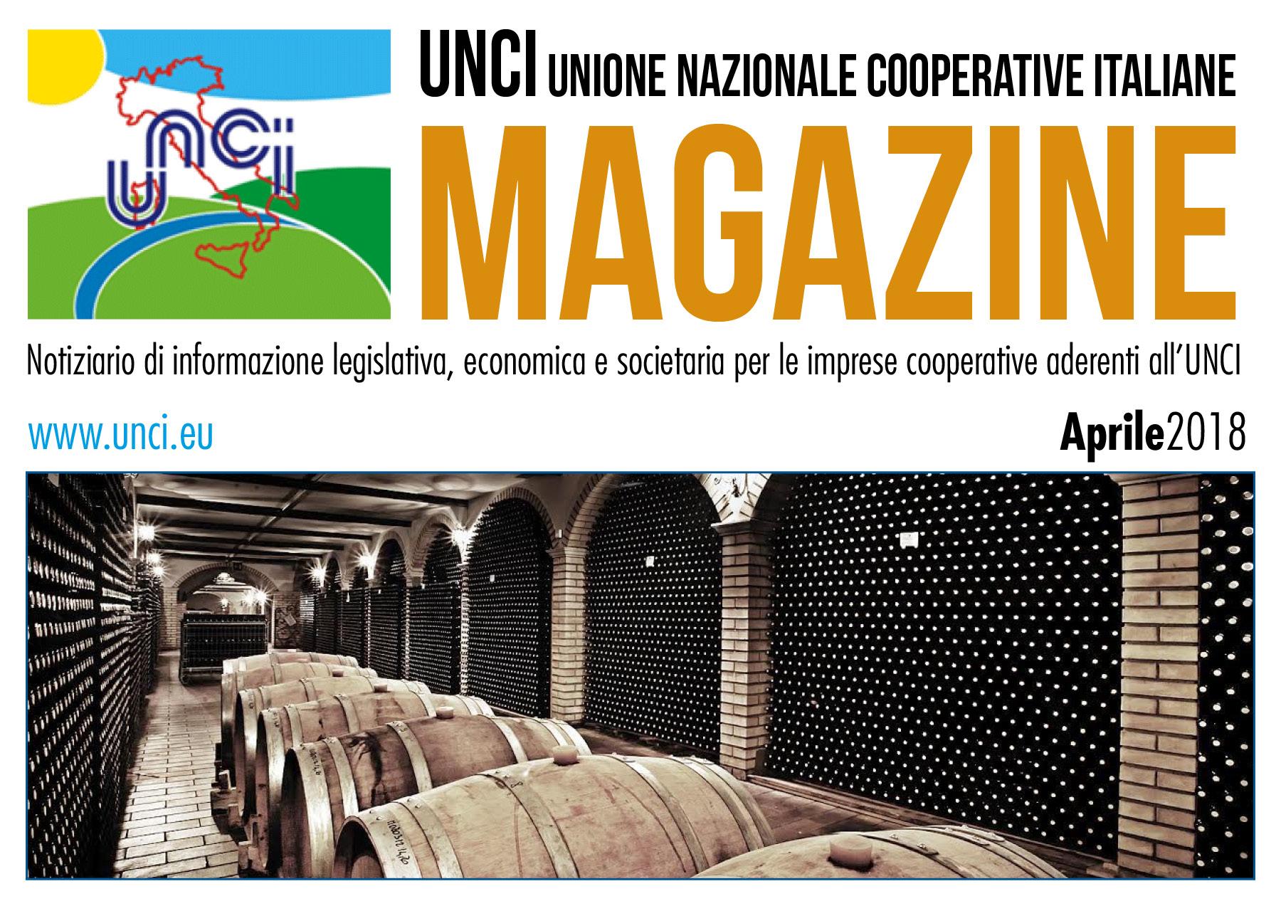 Cover Magazine UNCI aprile 2018