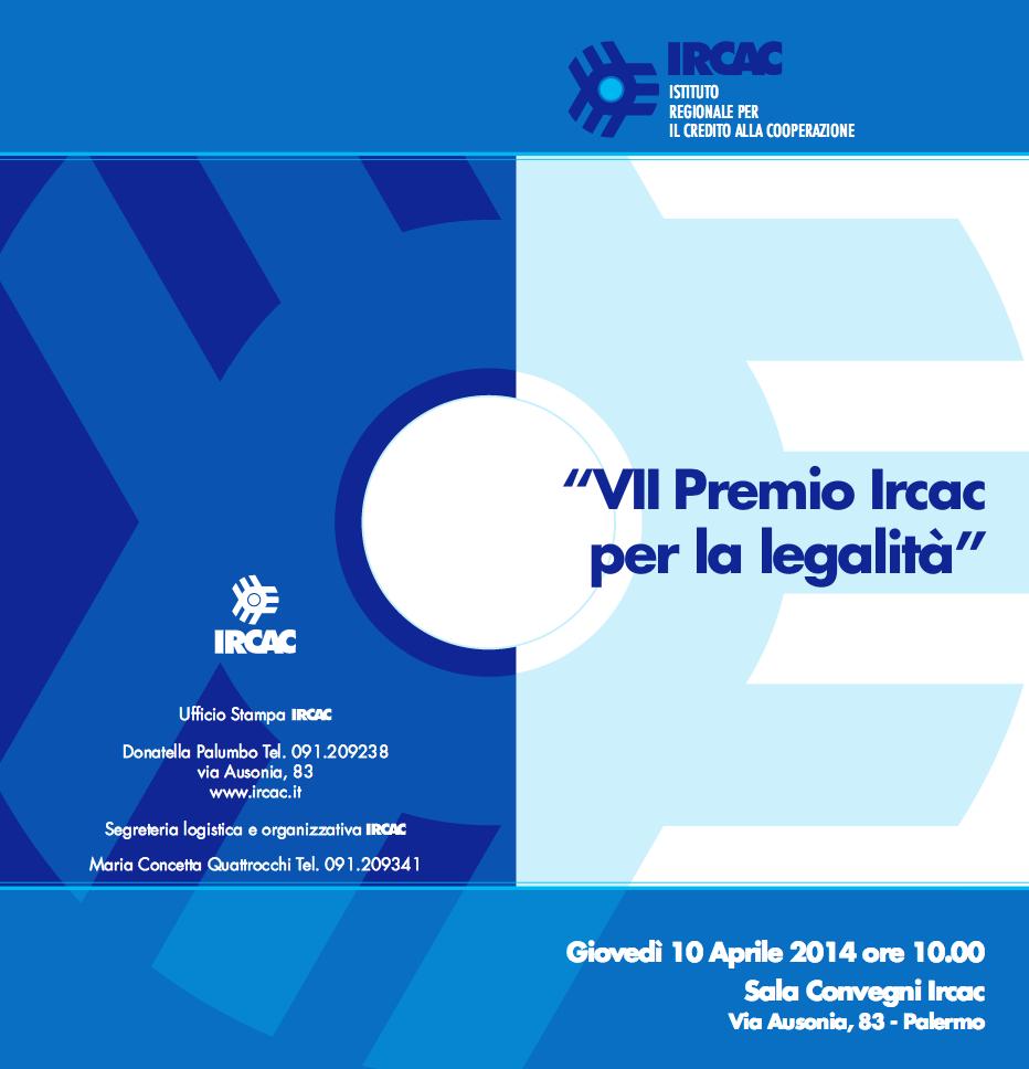 7° Premio Ircac per la Legalità